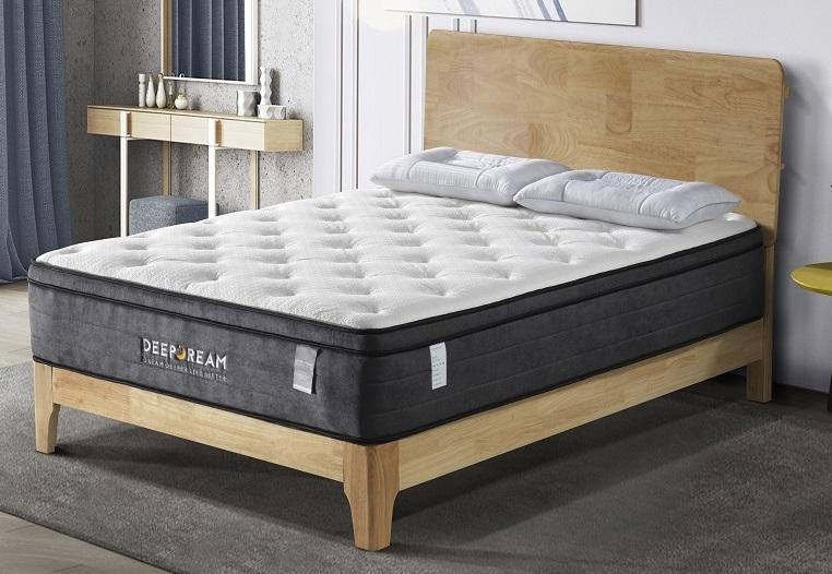 Eurotop Mattress 5 Zone Pocket Spring Latex Foam 34cm - Queen - Evopia