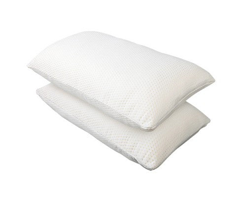 two luxury memory foam pillows