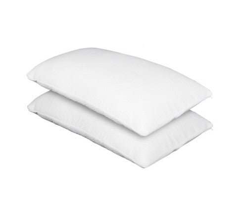 two pillows with memory foam fill