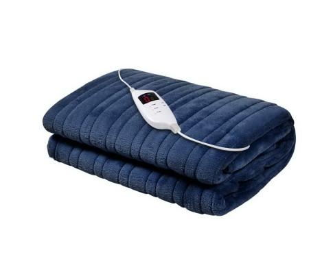 Giselle Bedding Navy Electric Throw Blanket - Evopia