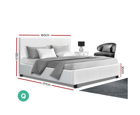 White-Queen-Bed-Frame-Neo | Evopia