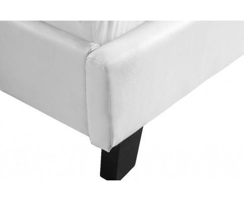 White leather bedframe Double
