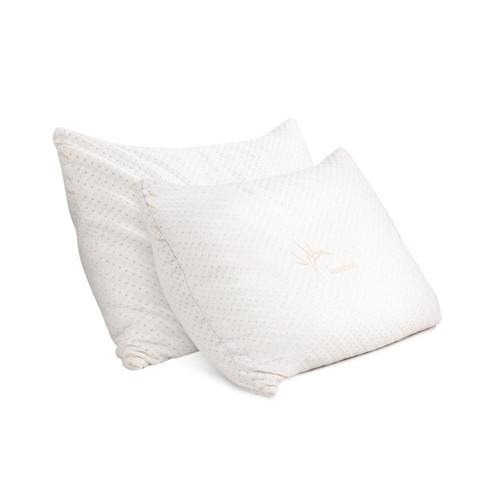 Giselle Bedding Set of 2 King Bamboo Memory Foam Pillow - Evopia