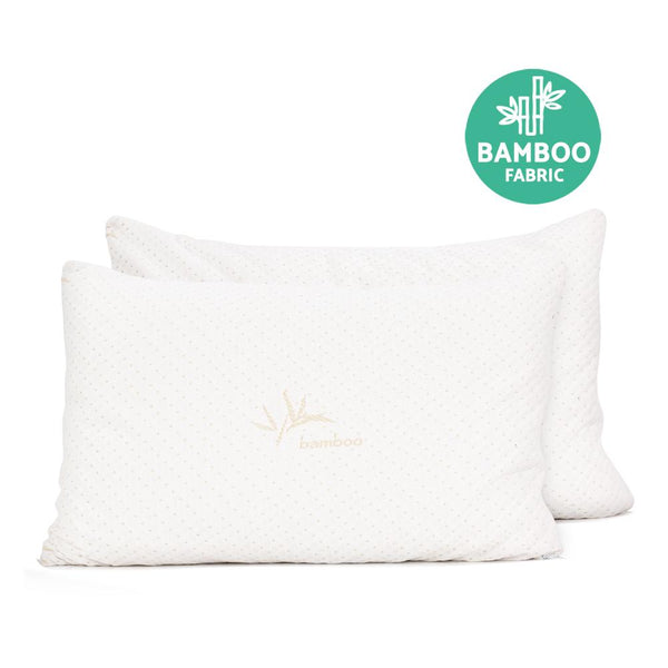 Giselle Bedding Set of 2 King Bamboo Memory Foam Pillow