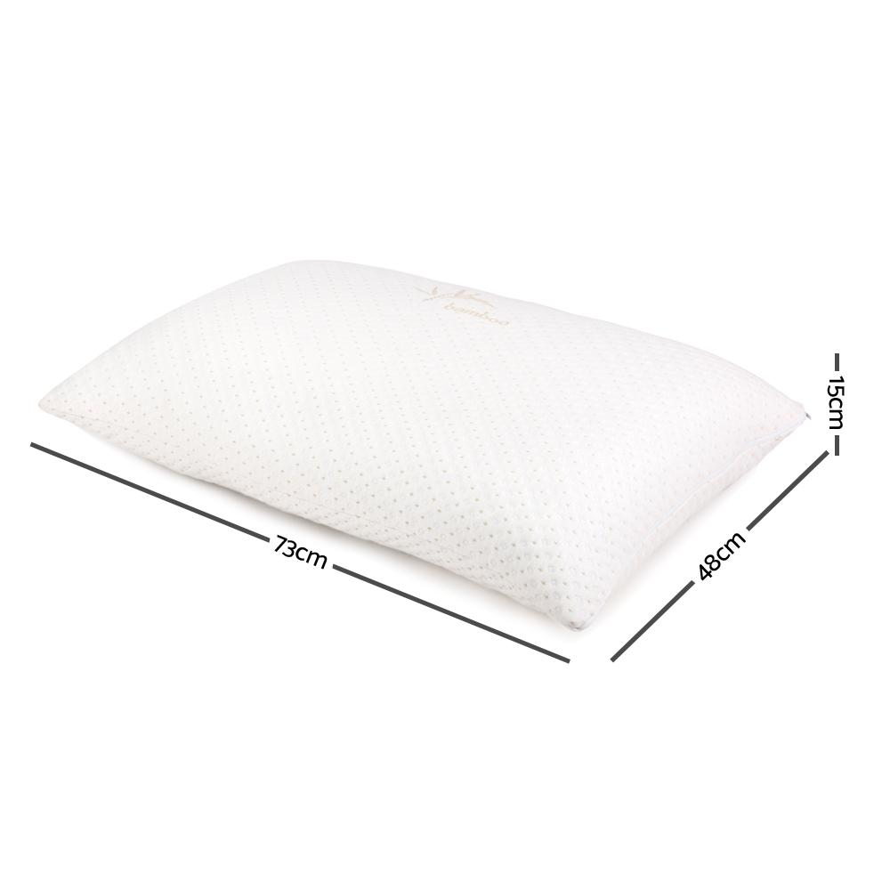 Giselle Bedding Set of 2 Single Bamboo Memory Foam Pillow - Evopia