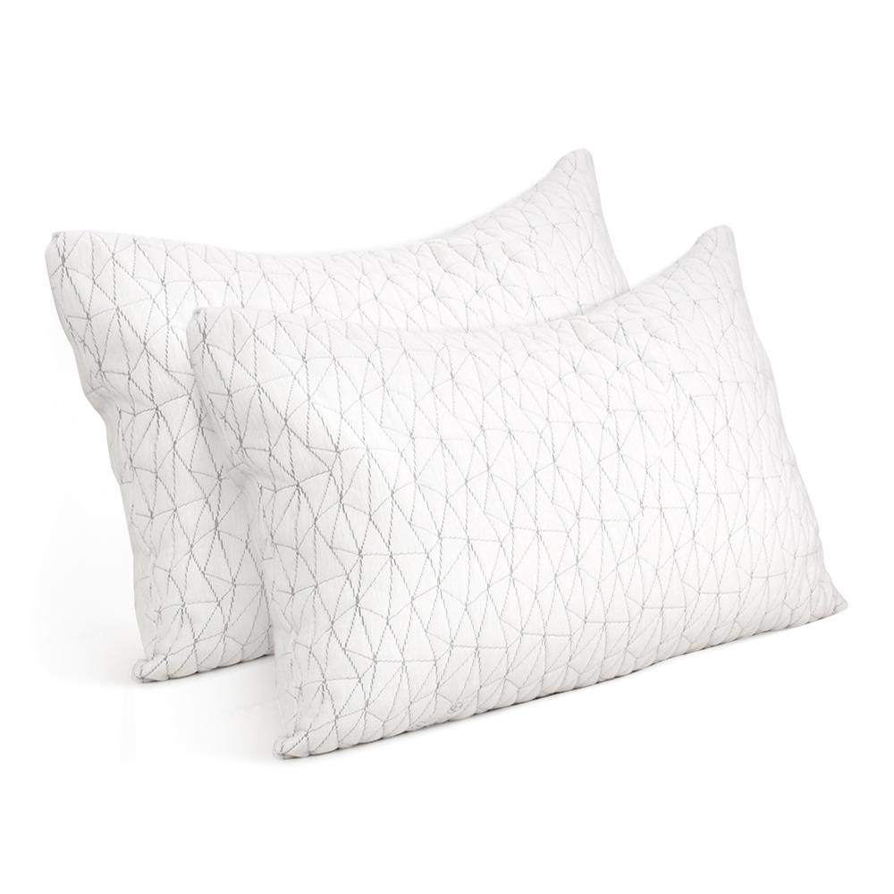 Giselle Bedding Set of 2 Rayon King Memory Foam Pillow - Evopia