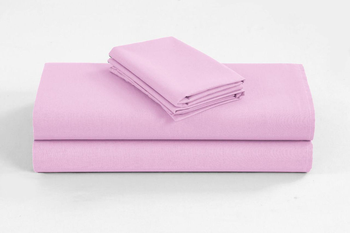 Elan Linen 1200TC Organic Cotton Double Sheet Sets Pink - Evopia