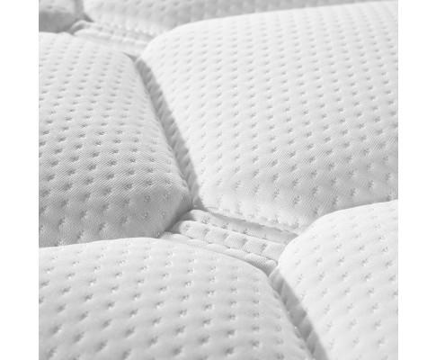 padding detail of a pillow top mattress