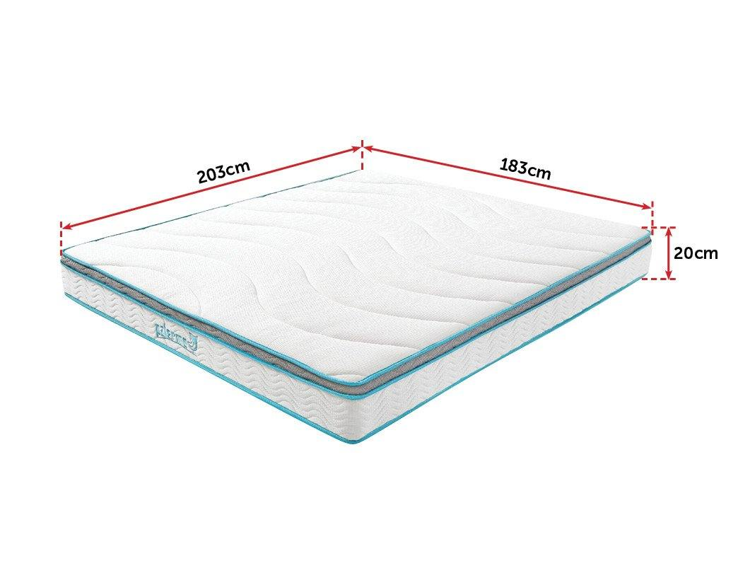 Palermo King 20cm Memory Foam and Innerspring Hybrid Mattress