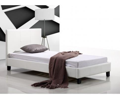 Palermo White PU Leather Bed Frame Single