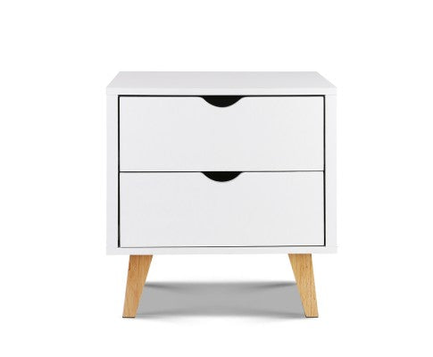 Natural White Bedside Table - Evopia