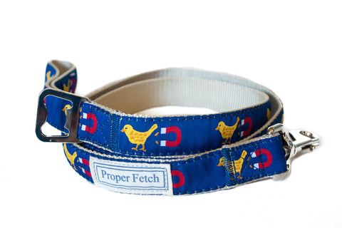 preppy chick magnet dog leash with bottle opener by proper fetch