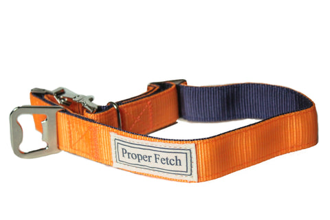 Orange & Navy Dog Collar