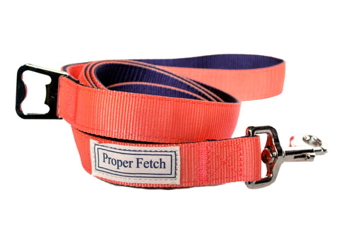 Salmon & Navy Leash