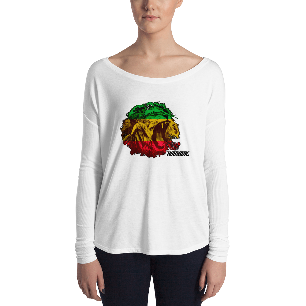 Ladies' Rasta Lion Long Sleeve Tee