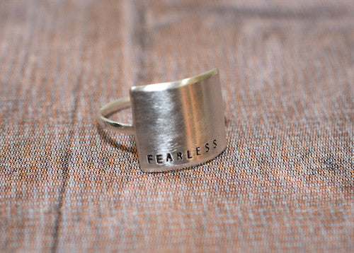 Fearless Silver Ring - Trailer Boutique