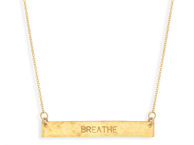 BREATHE - Gold Bar Necklace