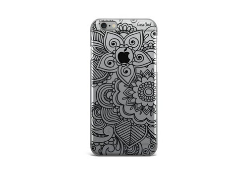 Black Henna Mehndi Clear Plastic iPhone Case - Trailer Boutique