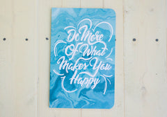 What Makes You Happy Soft Cover Notebook