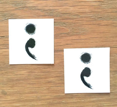Semicolon Temporary Tattoo - Trailer Boutique