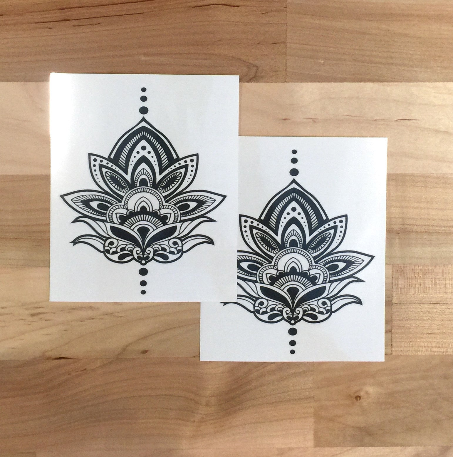 Henna Lotus Temporary Tattoo - Trailer Boutique