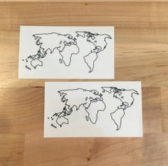 World Map Temporary Tattoo - Trailer Boutique