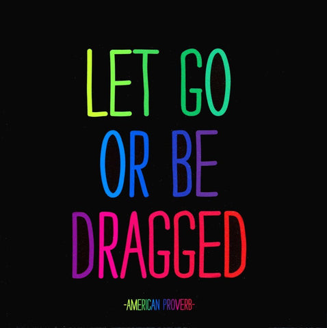 Let go or be dragged magnet - Trailer Boutique