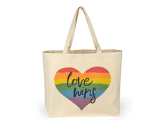 Shopping Tote Bag - Love Wins