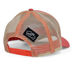 Snapback Trucker Classic Salmon and Khaki Hat - Trailer Boutique