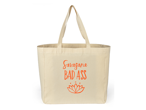 Shopping Tote Bag - Savasana Bad Ass