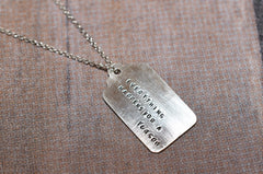 Everything Happens for a reason silver necklace - Trailer Boutique