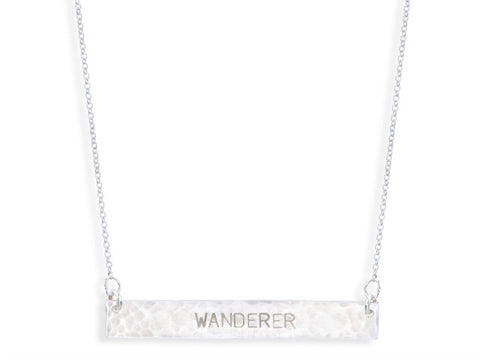 WANDERER - Silver Bar Necklace