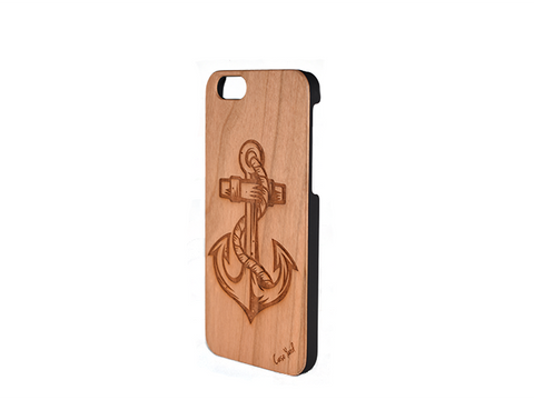 Anchor Carved Phone Case - Trailer Boutique