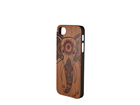 Ganesha Painted Wood iphone 5 case - Trailer Boutique