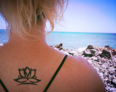 Lotus Flower Temporary Tattoo - Trailer Boutique