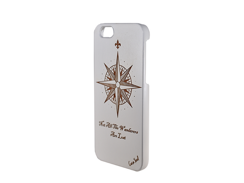 Compass Wanderer White iphone case - Trailer Boutique