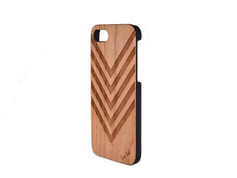 Chevron Pattern Wood iphone case - Trailer Boutique