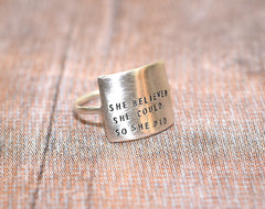Motivational Silver Ring - Trailer Boutique
