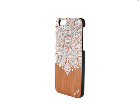 White Henna Mandala iphone case - Trailer Boutique