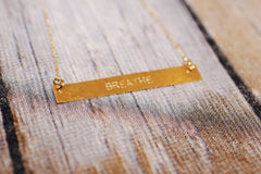 Breathe Gold Necklace - Trailer Boutique