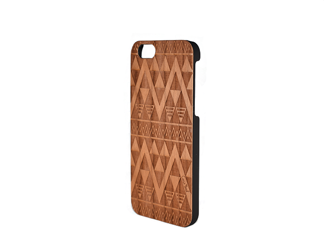 Triangles Carved Wood iphone case - Trailer Boutique