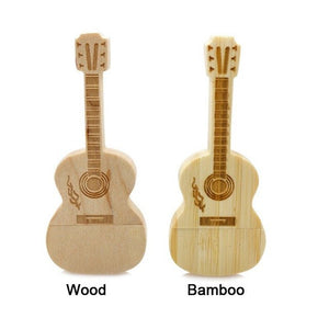 Wooden/Bamboo Guitar USB Flash Drives - USB Drive - Top Buys Direct