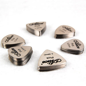 12 Alice Stainless Steel Guitar Picks - Guitar Accessories - Top Buys Direct