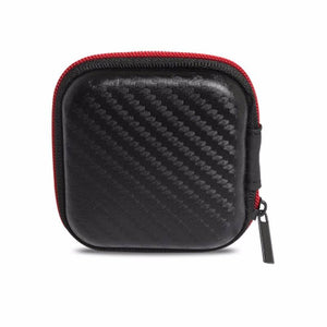 Carbon Fibre Style Earphone Case -  - Top Buys Direct