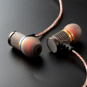Gold Plated Noise Isolating Earphone with Double Magnets - Earphone - Top Buys Direct