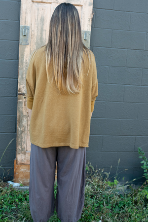 2306 Hemp Cotton Pullover Palo Santo-U