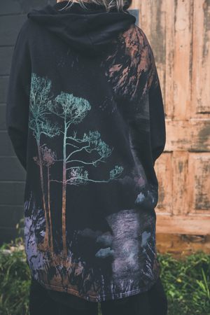5261 Hooded Cloak-Noir-Arboreal Dream