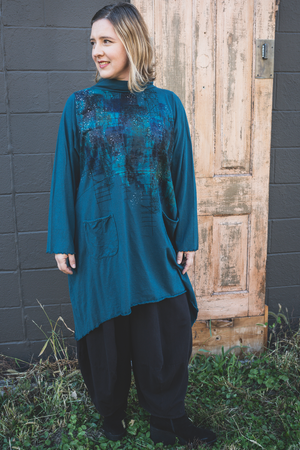 7229 Cowl Dress with Pockets-Brooklyn-Stellar Map