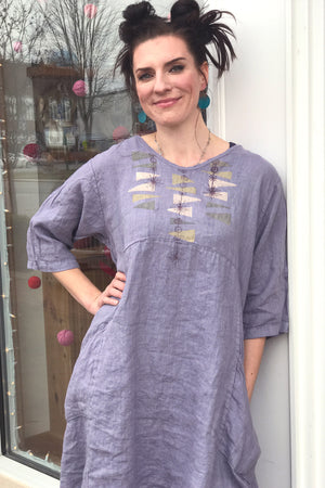 Zen Tunic French Lilac Printed