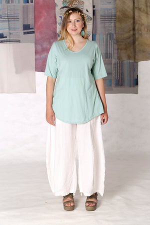 1211 Lightweight A-Line Layer Tee Mint Unprinted